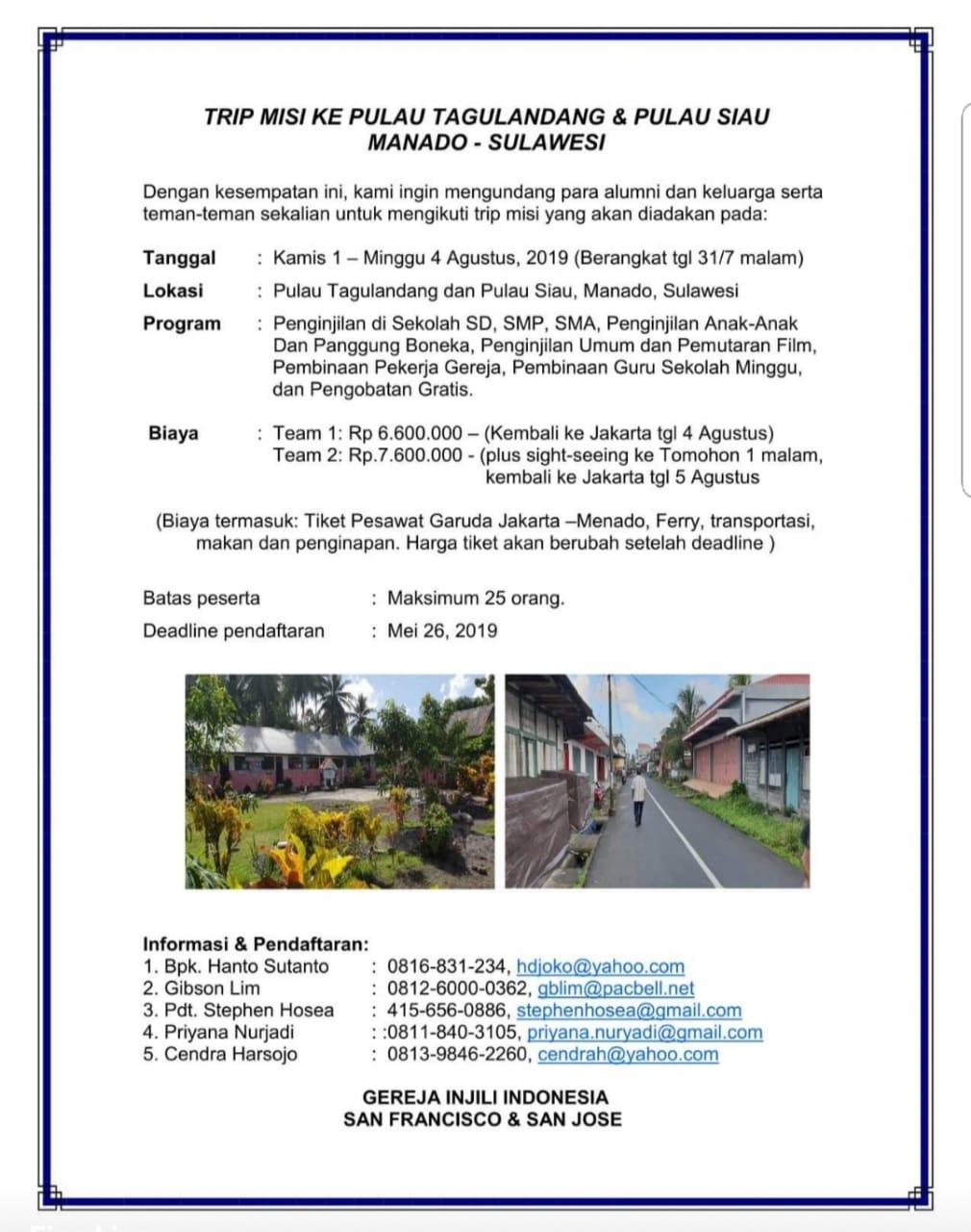 Manado Mission Trip